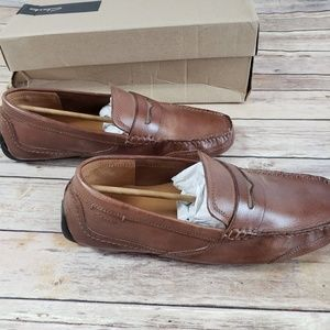 Clark's Ashmont Way Cognac Leather slip on loafer